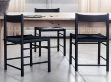 Load image into Gallery viewer, Subscription_Brdr_Krüger_Black_three_F_chairs_classic_four_legged_meeting_conference_room_design