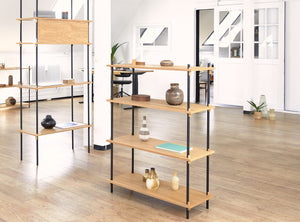 Medium Shelving, Oak Medium Shelving, Oak