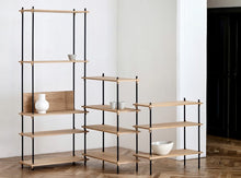 Load image into Gallery viewer, Subscription_OMNI_Moebe_Small_Shelving_Oak_storage_nooks_office_functional_natural_powder_coated_black_steel