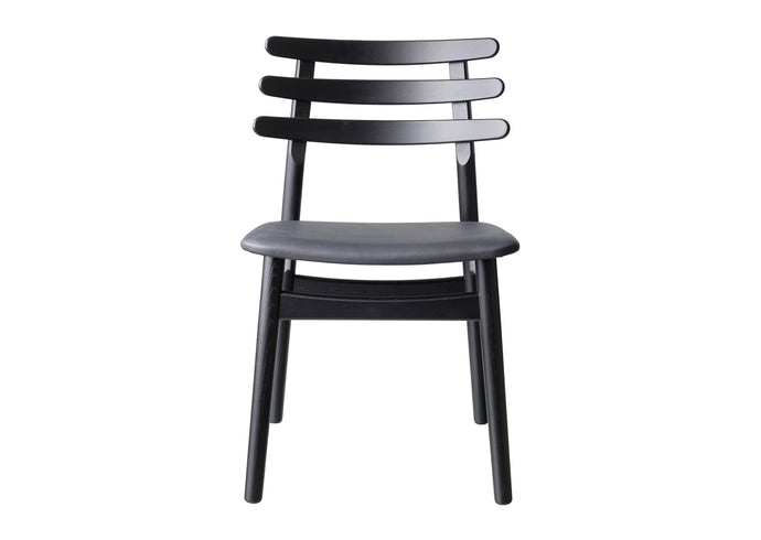 J48 Chair, Black & Leather