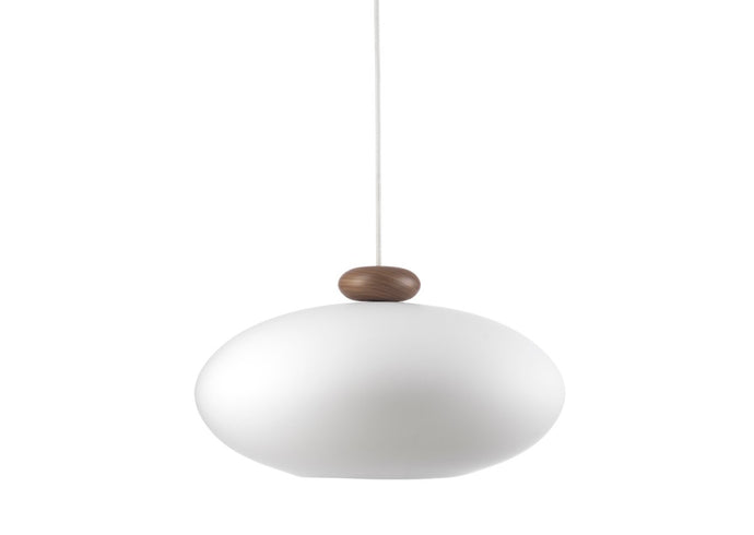 U3L Lamp, Walnut & Opal