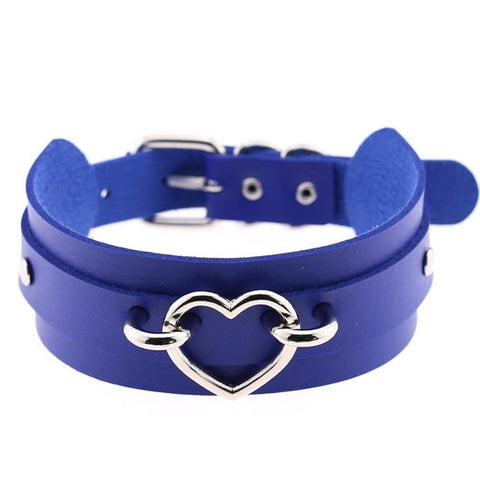 Heart Collar Bondage Goth Choker women belt