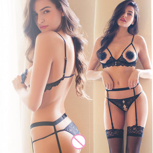 Bras and Panty Sets for Women Transparente Open Bra