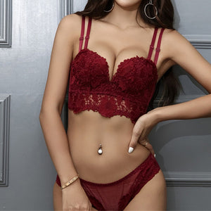 Women Underwear Luxurious Lace Embroidery