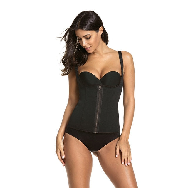 Bodysuit Women Slimming Zipper Waist Trainer Hot Body Shaper Tummy Waist Cincher Tank Corrective Shapewear Tops Dropshipping