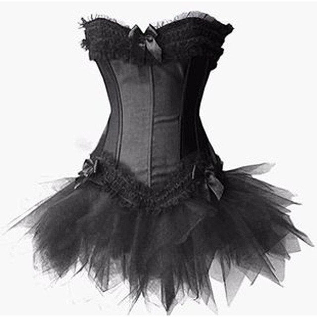 Hot Lace Steampunk Corset Dress Floral Bustier Dress for weight loss losing weight slimming products health care