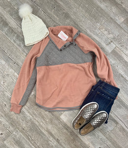 Yours Truly Blush Pullover