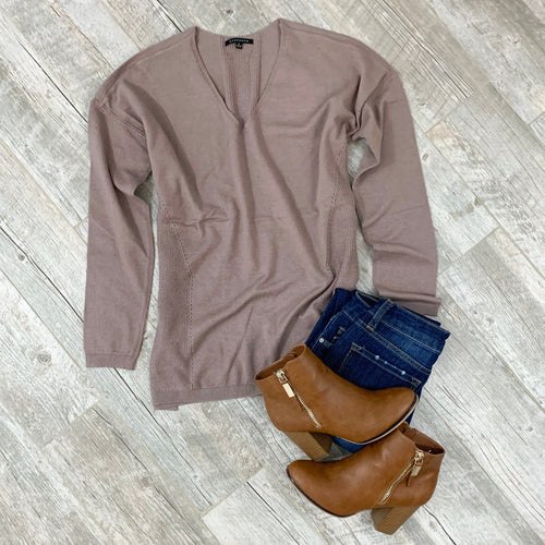 Hello Darling Mocha Sweater