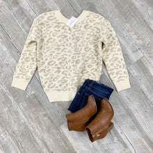 Load image into Gallery viewer, Love Me Leopard Twist Back Sweater