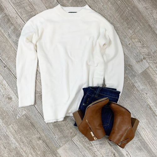 Feels Like A Dream White Sweater