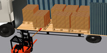 Load image into Gallery viewer, curtain sider truck offloaded using the pallet puller