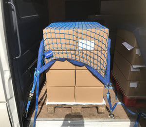 Van Load Restraint Net with 4 x 2m ratchet straps