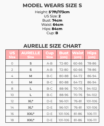 AURELLE 2020 Size Chart + Model Sizing