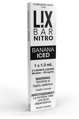 L!X BAR DISPOSABLE </p>Banana Iced
