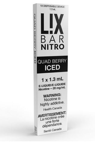 L!X BAR DISPOSABLE </p>Quad Berry Iced