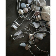 RIVERS EDGE COLLECTION - Sterling Silver & pebble Earrings - Art In Motion Jewelry & Metal Studio