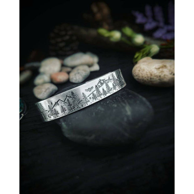 INTO THE FOREST • Mountain Bracelet - Art In Motion Jewelry & Metal Studio