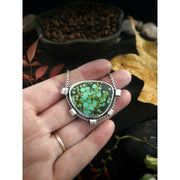 SHOWCASED - Turquoise Mountain Turquoise - Sterling Silver Necklace - Art In Motion Jewelry & Metal Studio