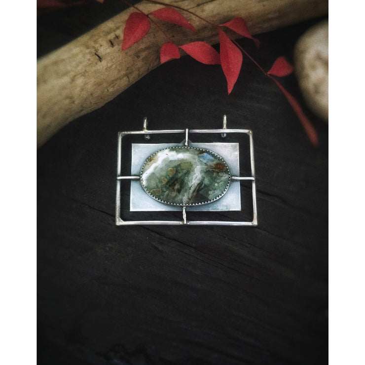 LANDSCAPE COLLECTION - Within the Reeds - Sterling Fine Art Pendant - Art In Motion Jewelry & Metal Studio