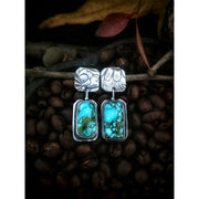 DARYN - FLORA COLLECTION - Kingman Red Web Turquoise Earrings