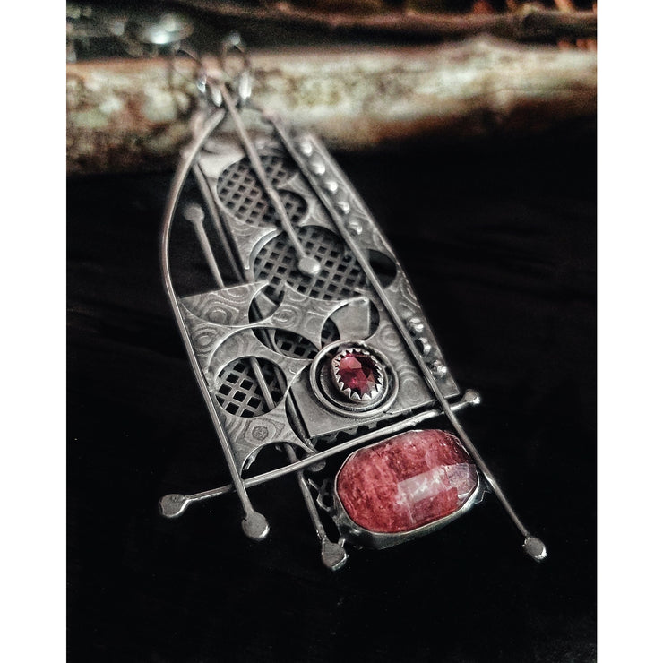 CITY SCAPES ~ Sterling Silver ~ Tourmaline Necklace - Art In Motion Jewelry & Metal Studio