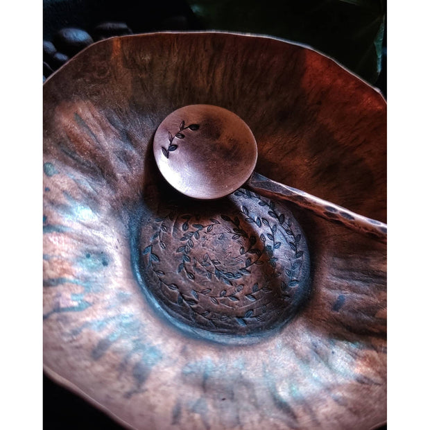 Hand Forged Copper Tea or Bar Spoon - Art In Motion Jewelry & Metal Studio