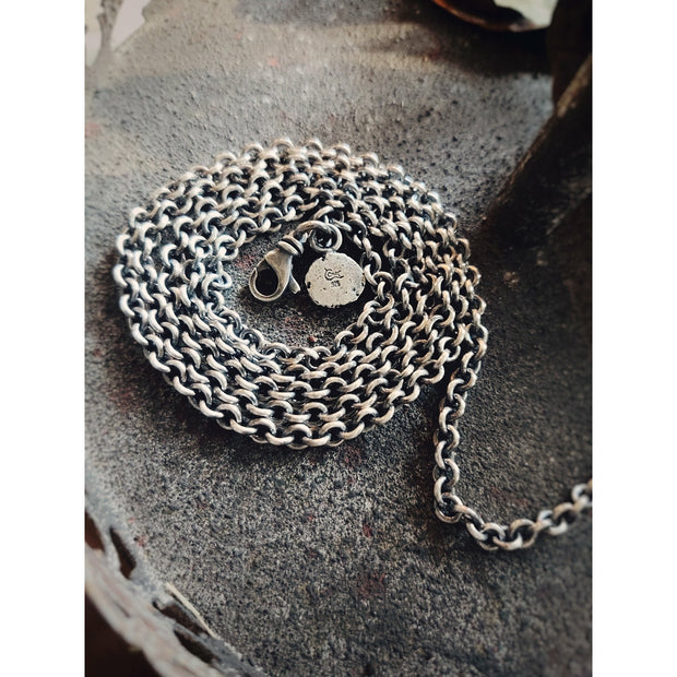 HEAVY GAUGE CHAIN - Statement Pendants - Sterling Silver Necklace - Made To Order - Art In Motion Jewelry & Metal Studio