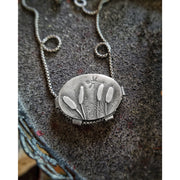 SHOWCASED - Made To Order - Sterling Silver Necklace - Art In Motion Jewelry & Metal Studio