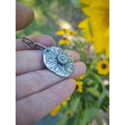 Plant Seeds of LOVE Necklace ❀ Daisy Flower - Real Seeds - HIDDEN WONDERS COLLECTION - Art In Motion Jewelry & Metal Studio