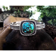 BOLD BEAUTY • Hubei Turquoise & Heavy Silver Statement Cuff Bracelet - Art In Motion Jewelry & Metal Studio