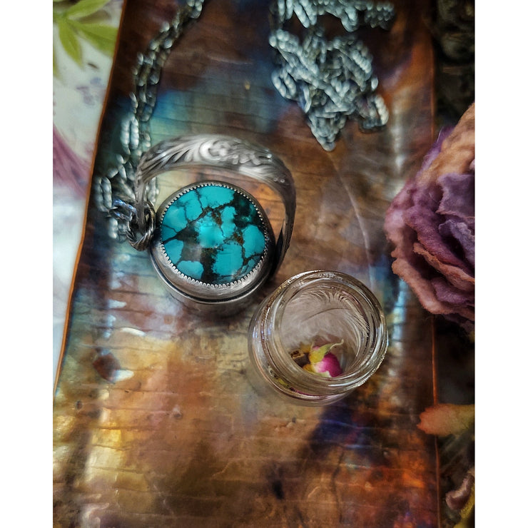 Tiny Treasures Necklace  - Glass Vessel - HIDDEN WONDERS COLLECTION - Art In Motion Jewelry & Metal Studio