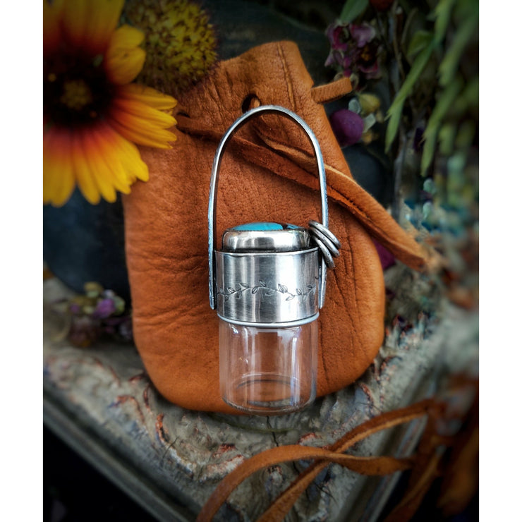 LEATHER POUCH - MEDICINE BAG - Art In Motion Jewelry & Metal Studio