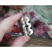 WOVEN - WIDE BAND RING - Art In Motion Jewelry & Metal Studio
