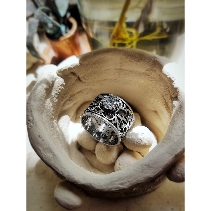 EUPHORIA • Ring • Filigree Wide Band - Art In Motion Jewelry & Metal Studio