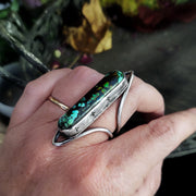 SHIELD MAIDEN - sz 8 -Bamboo Mountain Turquoise Ring - Art In Motion Jewelry & Metal Studio