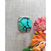HARMONY • Polychrome Turquoise Ring • Sz 9 - Art In Motion Jewelry & Metal Studio