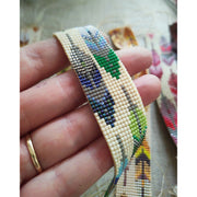 FEATHER TAPESTRY - Woven Beaded Bracelet - Ready to Ship - Art In Motion Jewelry & Metal Studio