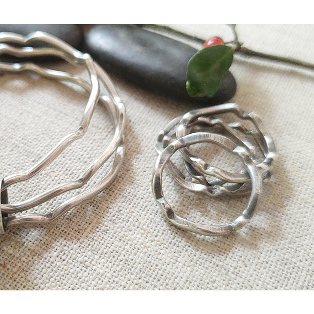 SCALLOP RING STACK - Sterling Silver rings