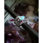 LAUREN - Rainbow Moonstone - Ready to Ship - Stack Ring