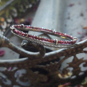 SHOWCASED GEMSTONE BANGLE - Sterling Silver Bangle Bracelet