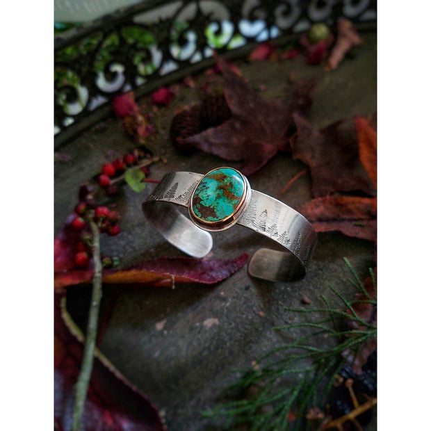 INTO THE FOREST • Turquoise Bracelet • Sterling Silver or 14k Gold