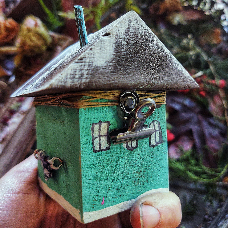 Tiny Wooden Painted Houses By: Audrey, Our 8 yr old Daughter