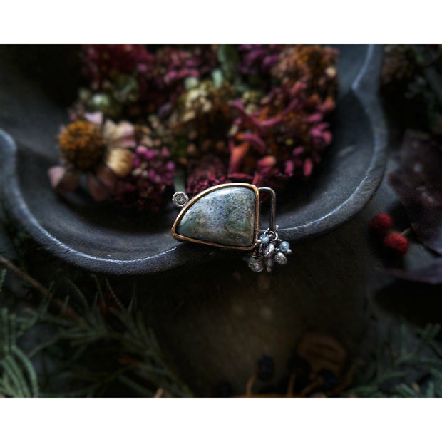 WINTER SKY - Statement Ring - Ready to Ship - Art In Motion Jewelry & Metal Studio LLC