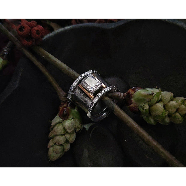 EMPOWERED - Three Band Set - ALTERNATIVE WEDDING RING - Made to Order - Art In Motion Jewelry & Metal Studio LLC