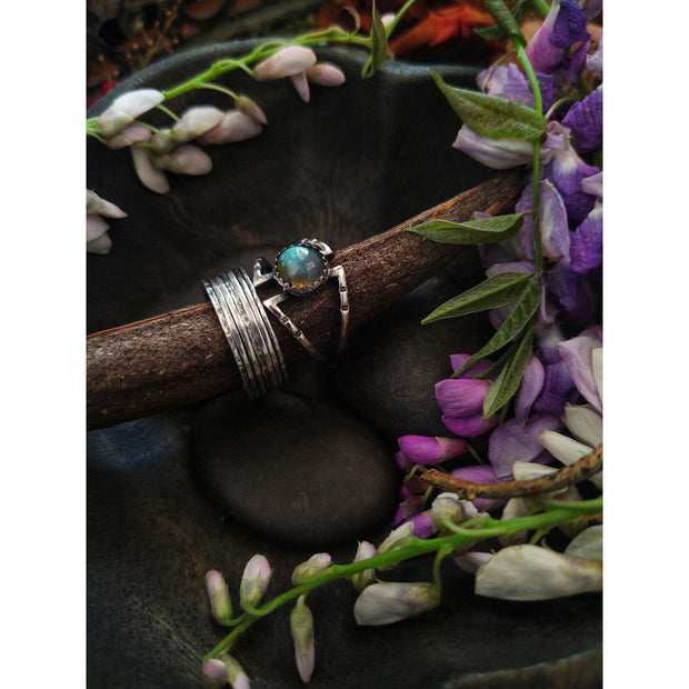 ANGLES Labradorite Ring • Ready To Ship • Sterling Silver - Art In Motion Jewelry & Metal Studio LLC