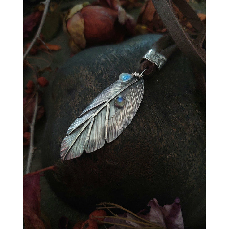 Ready to Ship - Textured Leaf - Sterling Silver Necklace - Art In Motion Jewelry & Metal Studio LLC