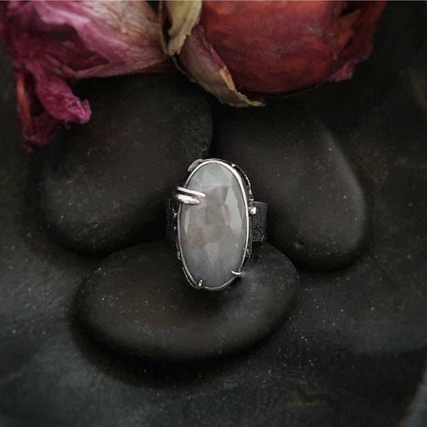 SILVER SATIN RING - size 6 - Sterling Silver - Art In Motion Jewelry & Metal Studio LLC