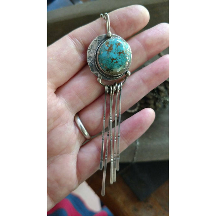MOONSTRUCK • Turquoise Moon Necklace - Art In Motion Jewelry & Metal Studio