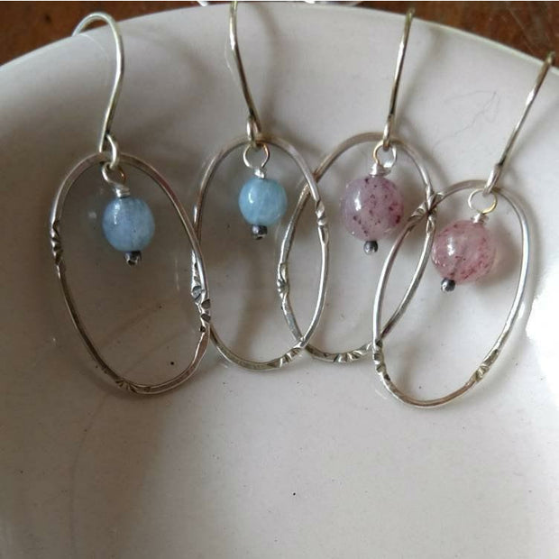 DAINTY HOOP EARRINGS • sterling silver hoops - Art In Motion Jewelry & Metal Studio