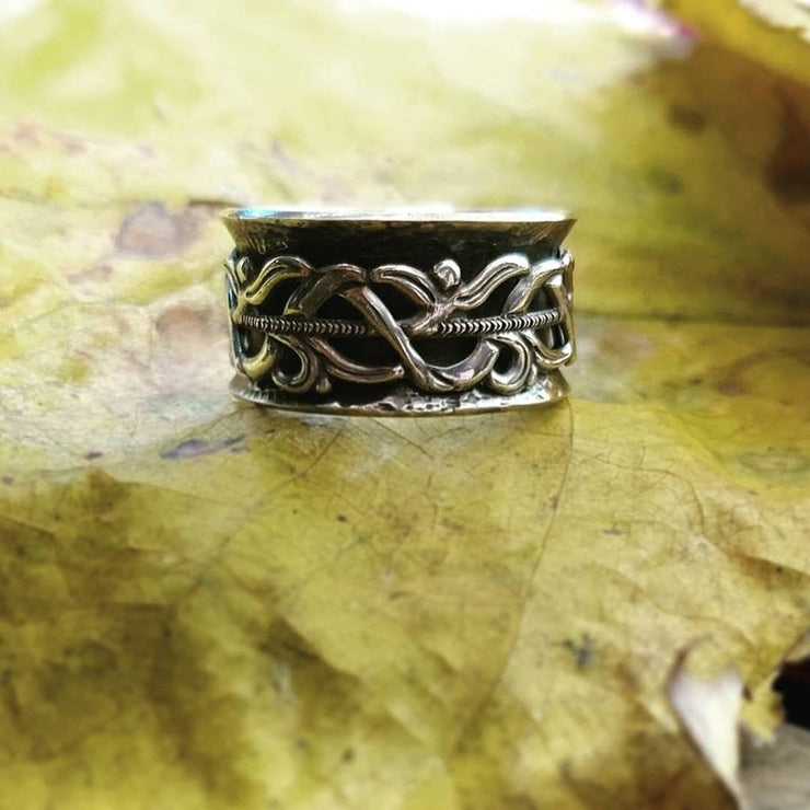 VINTAGE LACE • Spinner Ring • Made To Order • sterling silver - Art In Motion Jewelry & Metal Studio